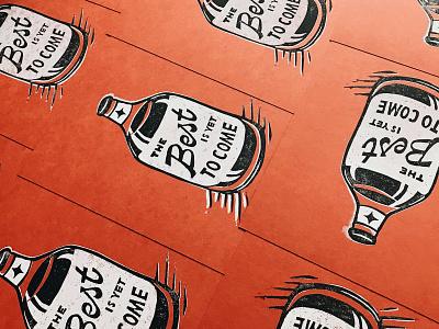 Print Subscription Edition 001 art print lettering illustration linocut