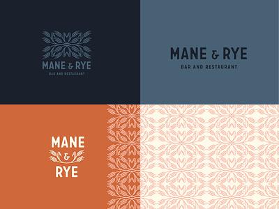 Mane and Rye restaurant rye illustation pattern branding