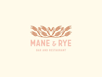 Mane and Rye illustration rye diner restuarant identity branding