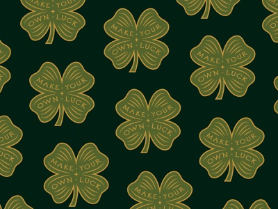 Make Your Own Luck sticker enamel pin clover luck