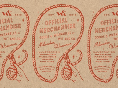 Merch Stamp rubber stamp packaging branding rope lasso tyopgraphy illustration