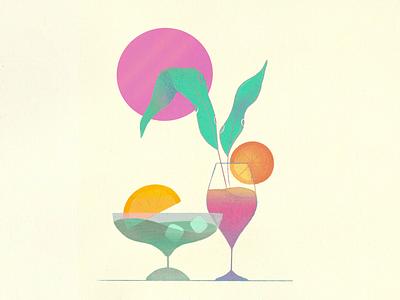 Cocktails texture artist art illustration procreate