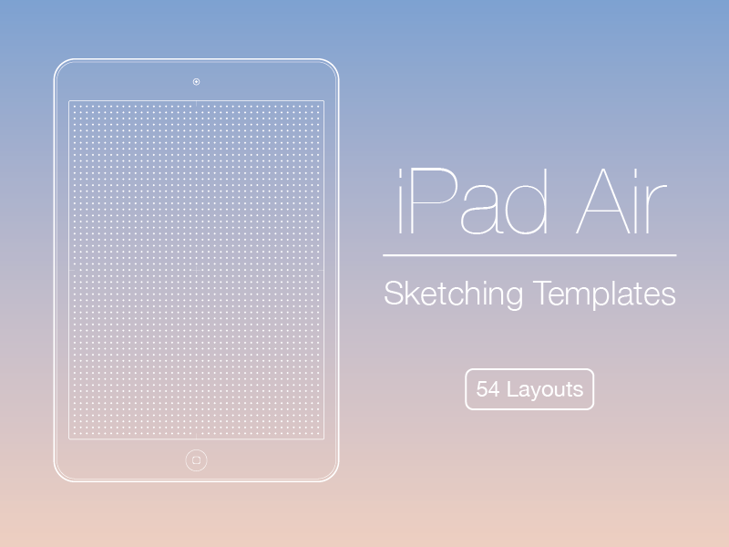 iPad Air Sketching Templates template printable grid free freebie wireframe sketch sketches sketching ipad air 2 ipad air ipad