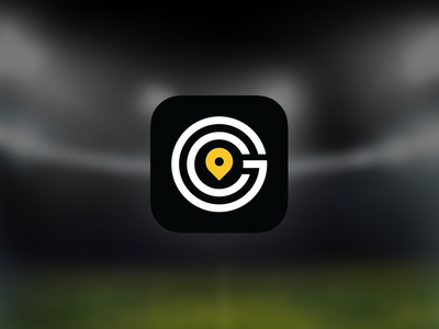 Game Changer - iOS Icon ios app icon sports stadiums location tracking black gold white