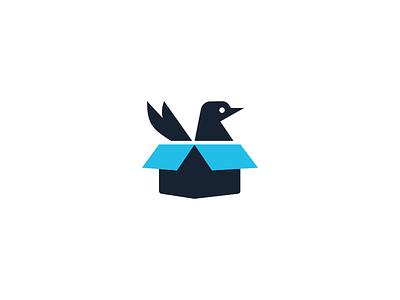 IBM Swift Package Catalog Logo black blue ibm packages swift box bird