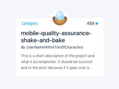 Project Description Card gray blue web type card nest bird