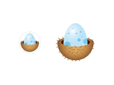 Nest Egg - Placeholder Avatar circle dots spots blue icon bird nest egg