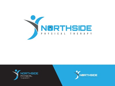 NorthSider Physical Therapy minimal branding icon design physical.therapy logo