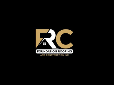 Foundation Roofing And Construction INC branding logo minimal contruction