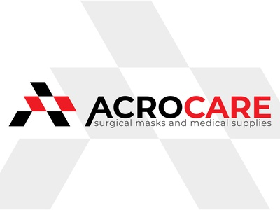 Acrocare minimal medical design logo illustrator branding