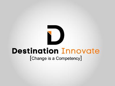 Destination Innovate destination di icon vector design illustrator logo minimal branding