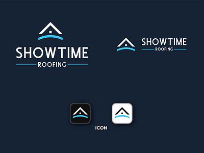 Showtime Roofing branding icon vector design illustrator logo minimal