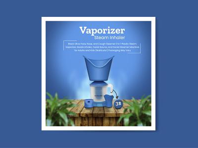 Vaporizer - Steam Inhaler Banner business design icon banner photoshop minimal branding