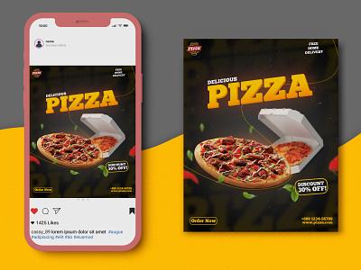 Pizza Social Media Banner pizza facebook instagram design social media banner