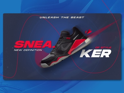 Sneaker Ad Banner minimal design nike shoe ad banner graphic design