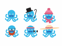 Octopi with Hats
