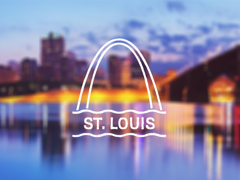 St. Louis Stamp badge stamp louis st