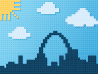 Lego St. Louis Skyline