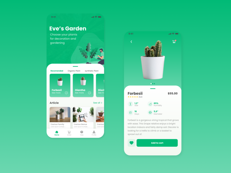 Eve s Garden mobile design mobile ui mobile app design mobile app web app ux branding ui logo design illustration