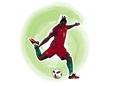 Eder portugal eder soccer football sport adobe illustrator vector illustration art