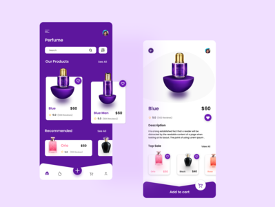 """"""" Perfume store App """" ui design perfume bottle perfume shopping fragrance mobile app illustration uiuxdesign shopping app mobile ui uidesign mobile app design best design"""