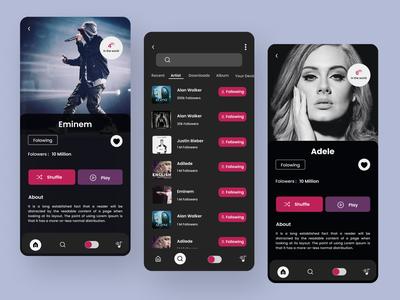 """Music App"" logodesign music illustration shopping app best shot uiux uidesign minimal mobile app design mobile ui music player music app best design"