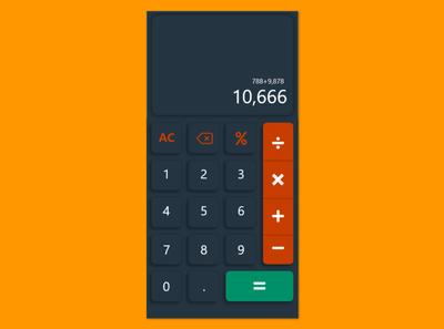 Calculator iphone x adobe xd ux clean minimal flutter app design app ui design calculator app calculator ui calculator