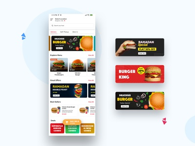 Food App online ux ui food