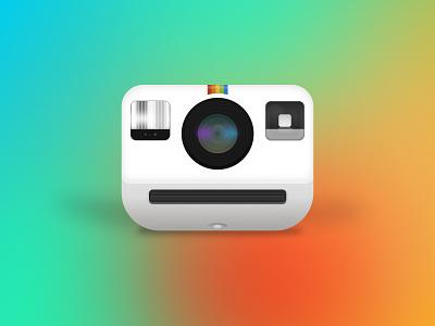 Polaroid_Camera_Figma illustration download rainbow colors branding motion graphics 3d camara art graphic design figma