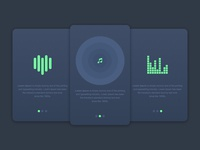 Daily UI #013_Music Player Landing Page