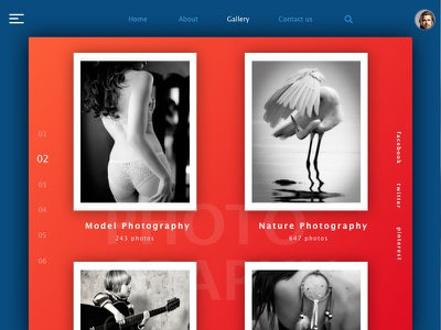 Photography Website_color icon presentation nature model sketch photography graphic ux ui photo download