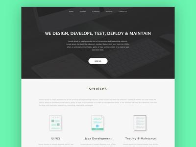 Website hire us software design testing java sketch ux ui website