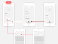 New app Wireframe mode WIP