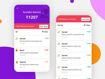 e commerce wallet expire illustration money filters ux ui wallet ecommerce