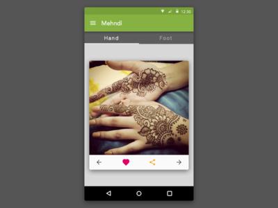 Mehndi App For Android : Mehndi android app by brijesh maganbhai babariya dribbble
