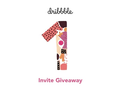 Invite giveaway join dribbble join invites giveaway invite design invitations giveway invite invite giveaway minimal hello illustrator hellodribbble