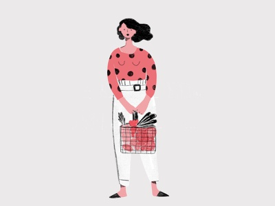 Zero Waste Grocery Shop modern characterdesign character vectorart vectors people vector ui design minimal illustrator illustration avatar