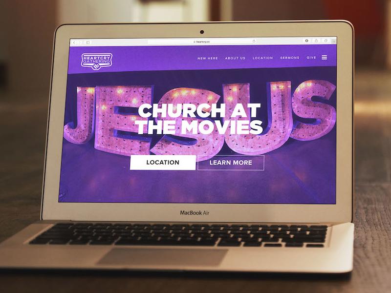Church Website christian jesus gotham the gathering heart cry church plant church wordpress church at the movies theater church