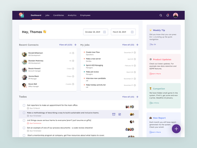 TeamSourcer: Dashboard Screen for Applicant Tracking Software angular dashboard front-end developer angularjs angular interface design ui  ux dashboard ui workflow management resume hr cloud hr software hr resume parsing resume design inverview scheduling candidate tracking assesments ats product design