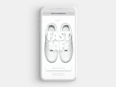 Nike Fast AF Service web app ux ui design