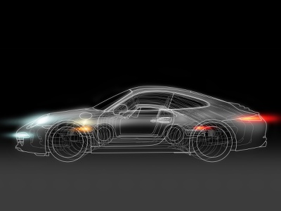 50 Years of the 911 - Amelia Island display graphics experiential design illustration vector