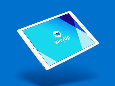 WayUp Rebrand type typography icon logo design branding