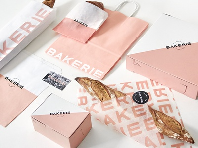 Bakerie Branding Packaging and Collateral package design type typography logo design branding