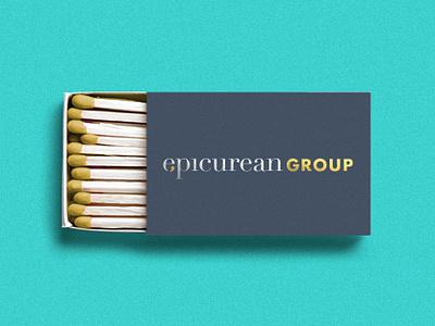 Epicurean Group Branding type typography icon logo design branding