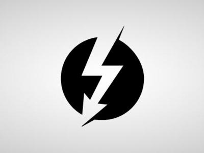 Thunderbolt design icon vector logo branding