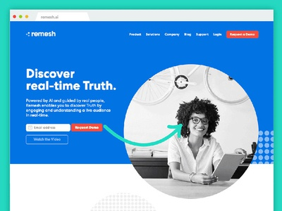 Remesh Site web design ux ui