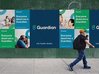 Guardian OOH Wildpostings posters ooh lettering type typography icon logo branding design