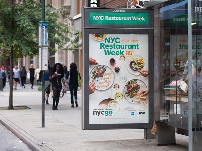 NYC Restaurant Week photography advertising ooh typography icon logo design branding