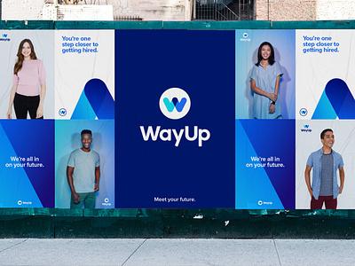 WayUp Wildpostings advertising ooh identity lettering type typography icon logo branding design