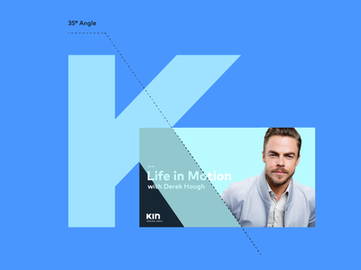 Kin Community K-angle commercial motion graphics flat minimal identity animation lettering type typography icon logo branding design